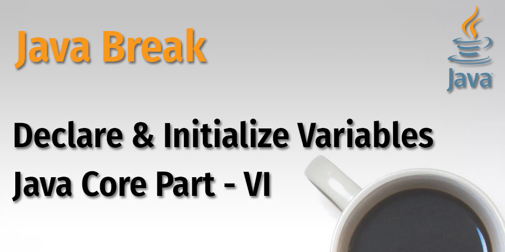 Java Break - Declare and Initialize Variables - Java Core Part - VI